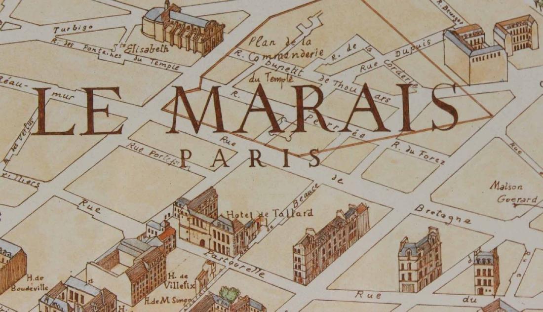 MAP OF CARTE PARTICULIERE DELISLE DE FRANCE - 9