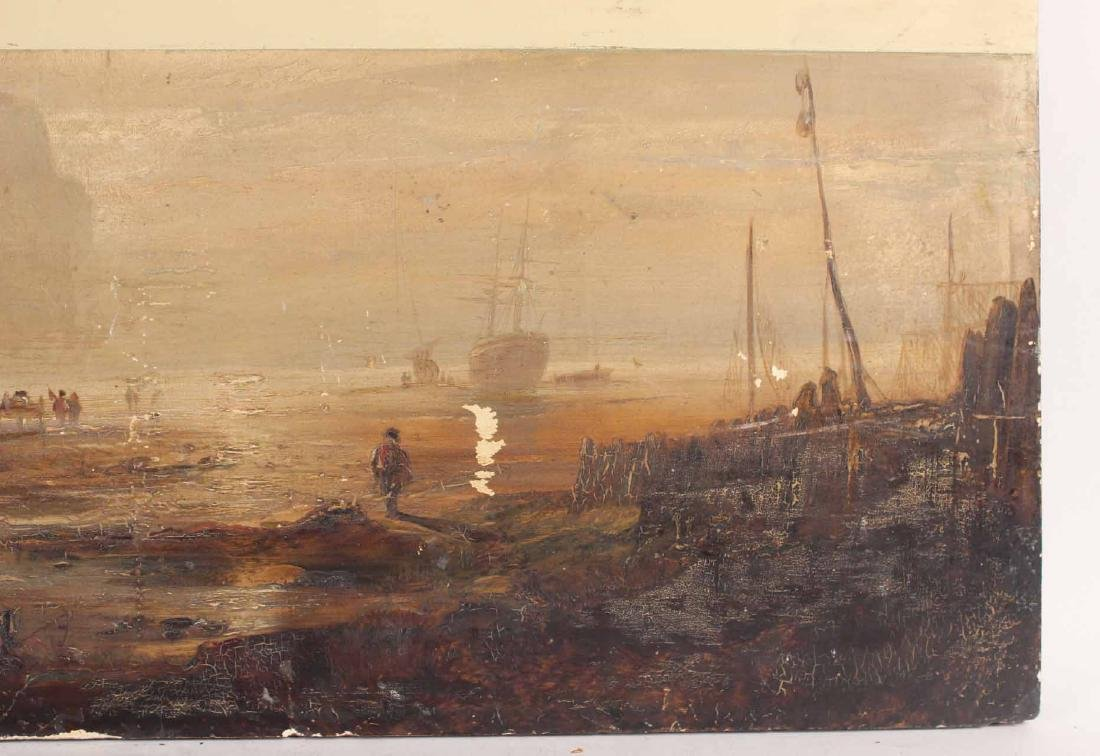 OIL ON BOARD OF MARITIME SCENE - 2