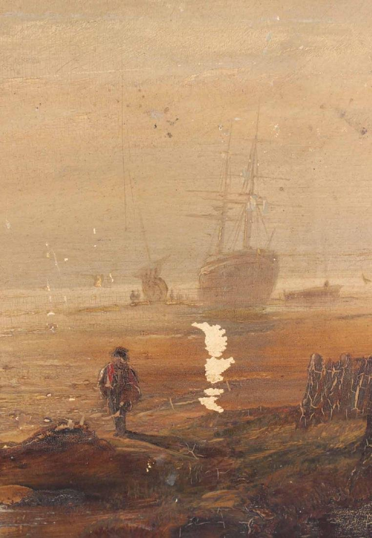 OIL ON BOARD OF MARITIME SCENE - 5
