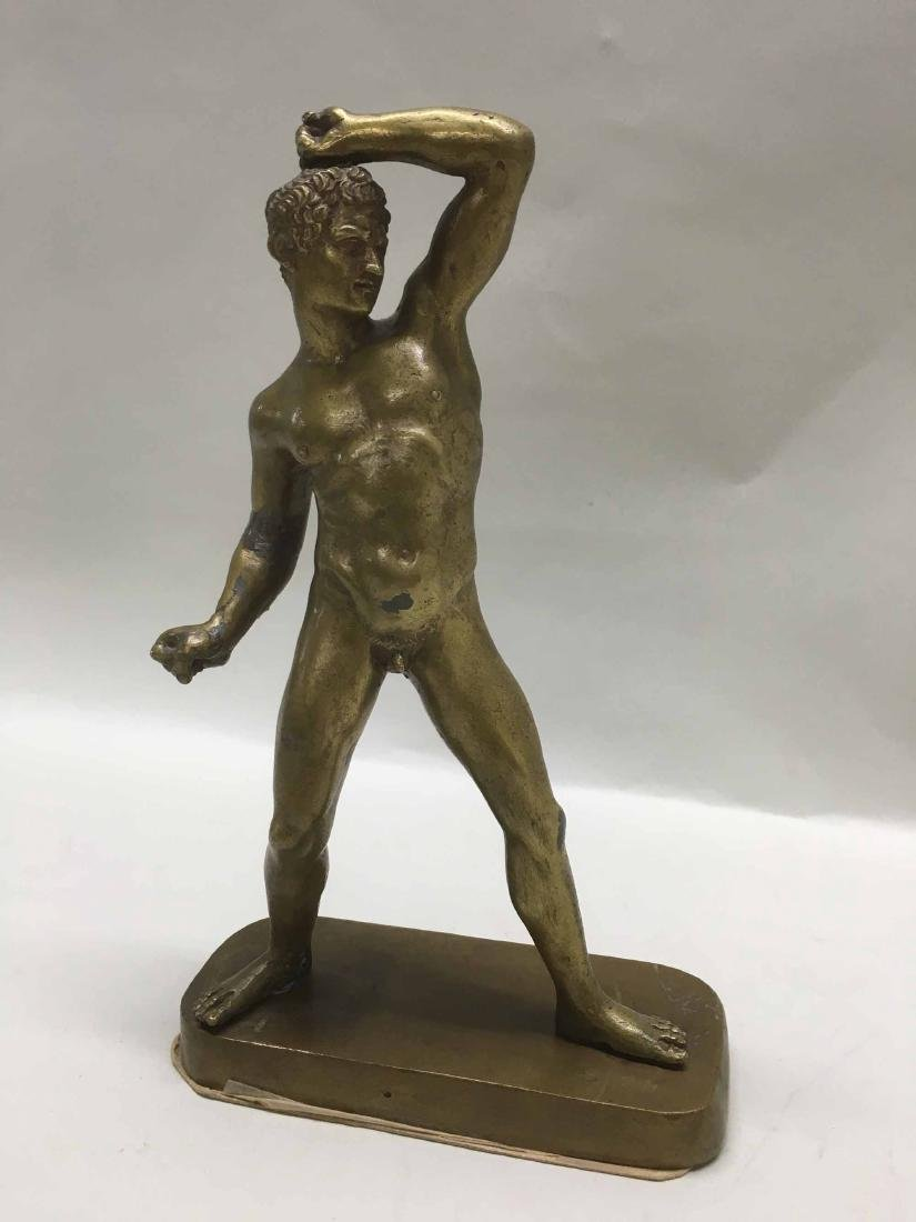 PATINATED METAL CLASSICAL FIGURE OF NUDE