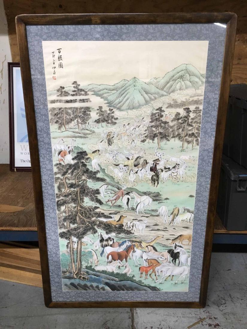 JAPANESE MIXED MEDIA ON FABRIC - 2