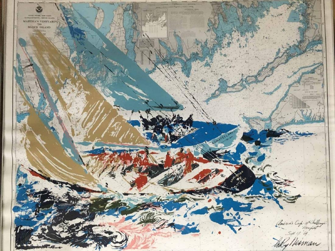"""LEROY NEIMAN LITHOGRAPH, """"AMERICA'S CUP"""""""