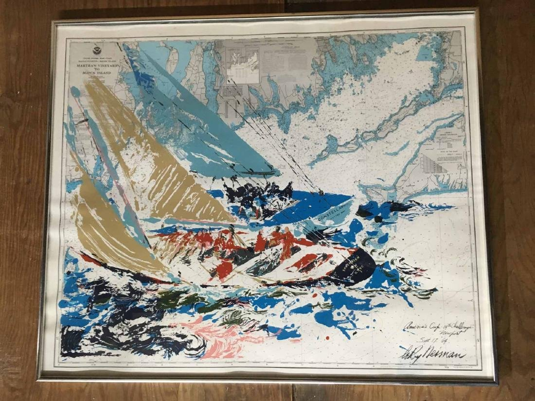 "LEROY NEIMAN LITHOGRAPH, ""AMERICA'S CUP"" - 2"