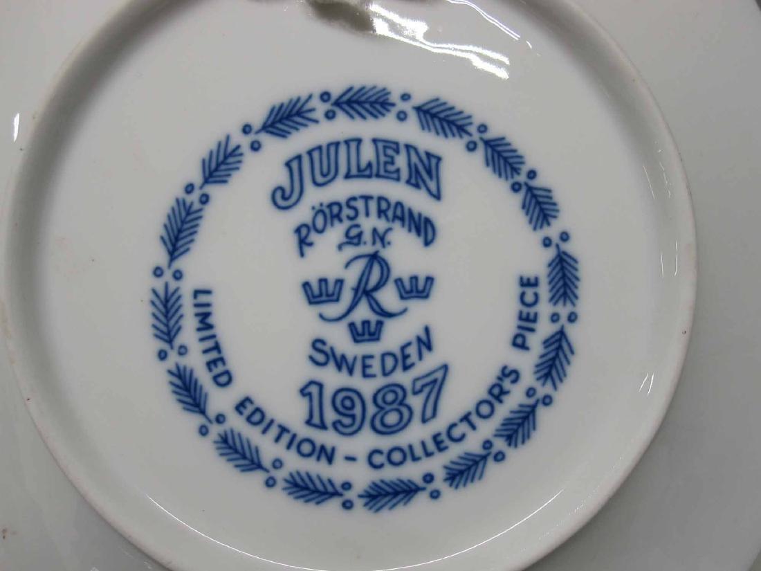 1981 - 1989 JULEN RORSTRAND COLLECTORS PLATES - 4