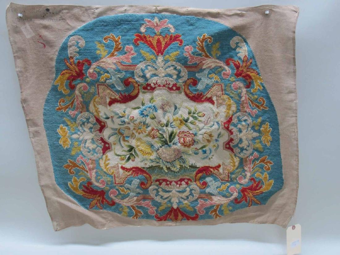 TWO NEEDLEWORK CHAIR COVERS - 3
