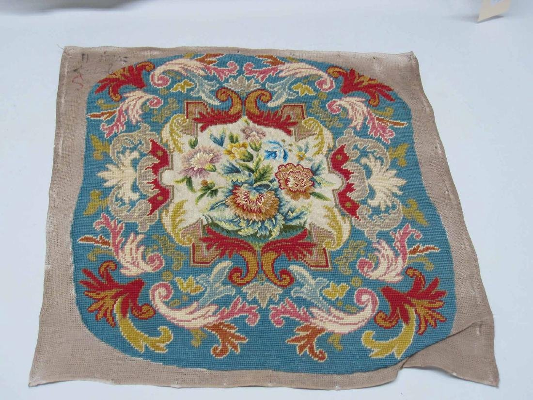 TWO NEEDLEWORK CHAIR COVERS - 4