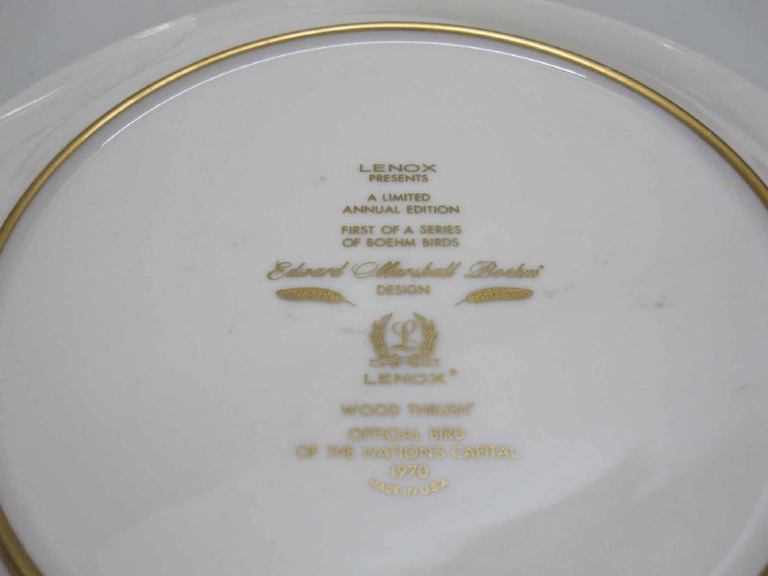 SIX LENOX EDWARD MARSHALL BOEHM PORCELAIN PLATES - 3