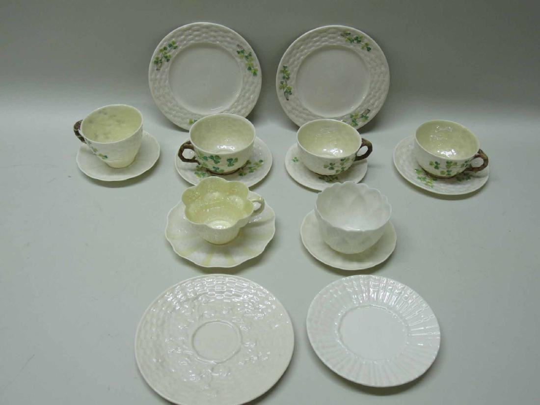 GROUP OF BELLEEK PORCELAIN - 2