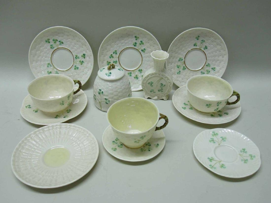GROUP OF BELLEEK PORCELAIN
