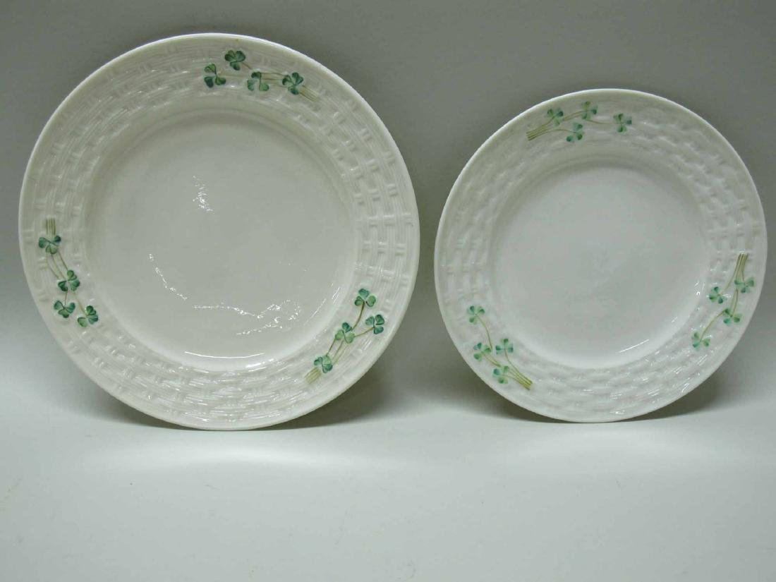 GROUP OF BELLEEK PORCELAIN PLATES
