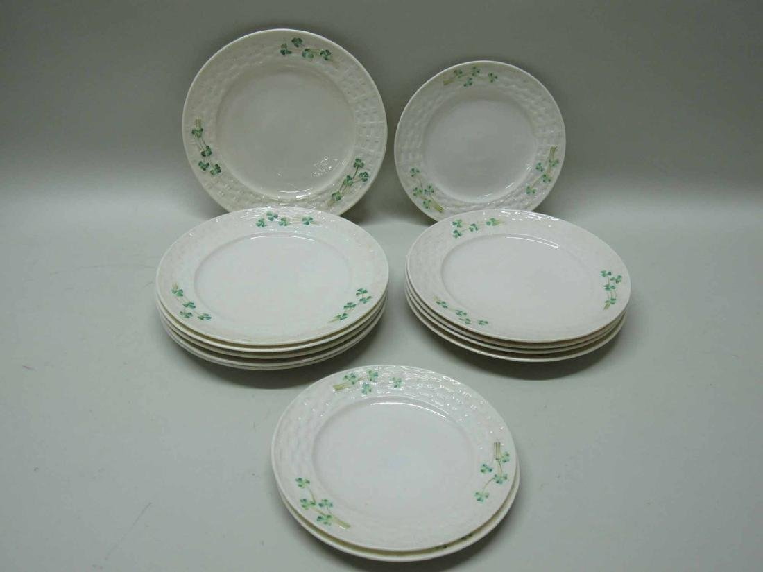 GROUP OF BELLEEK PORCELAIN PLATES - 2