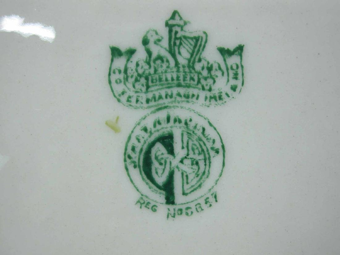 GROUP OF BELLEEK PORCELAIN PLATES - 5