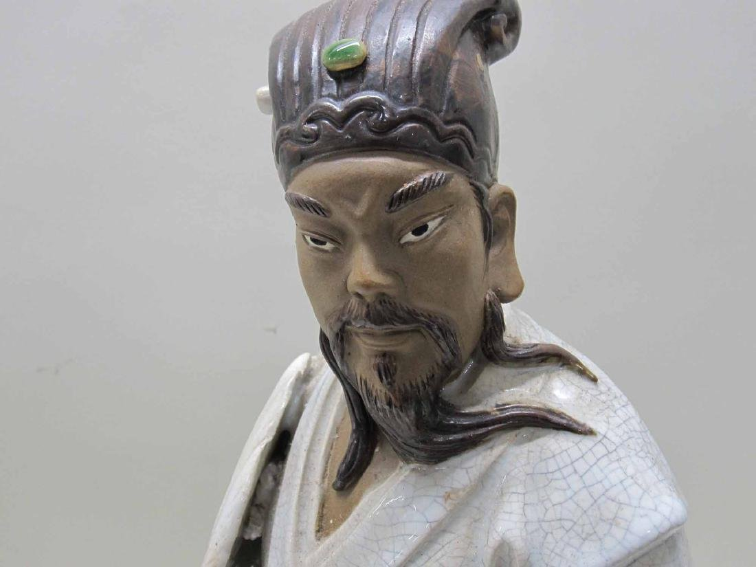 JAPANESE CERAMIC FIGURE OF A MAN - 2