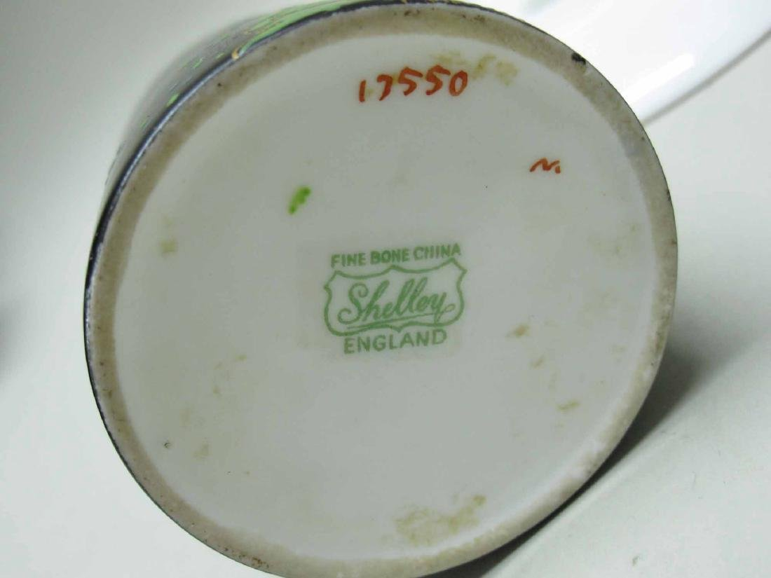 SHELLEY PORCELAIN DEMI-TASSE CUPS AND SAUCERS - 5