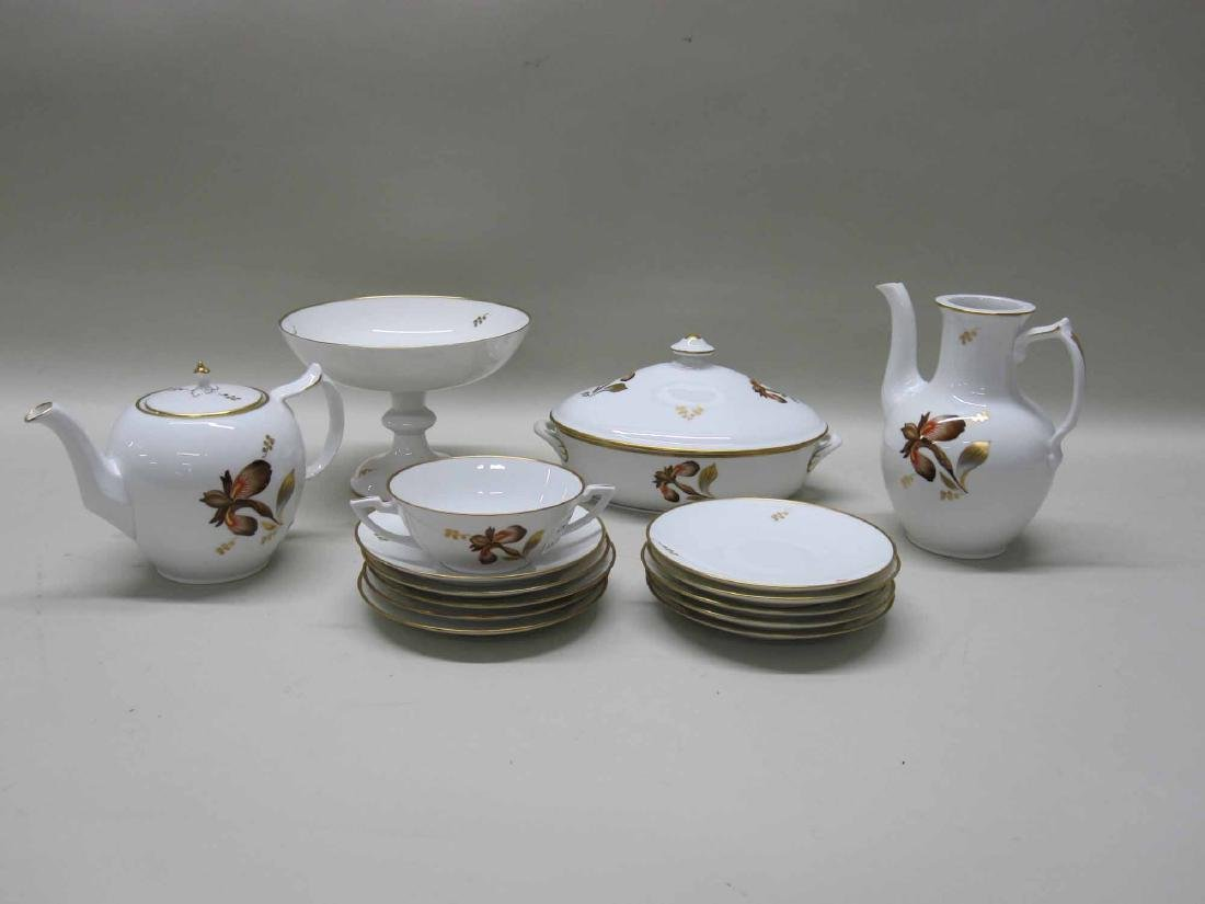 PARTIAL ROYAL COPENHAGEN PORCELAIN DINNER SERVICE