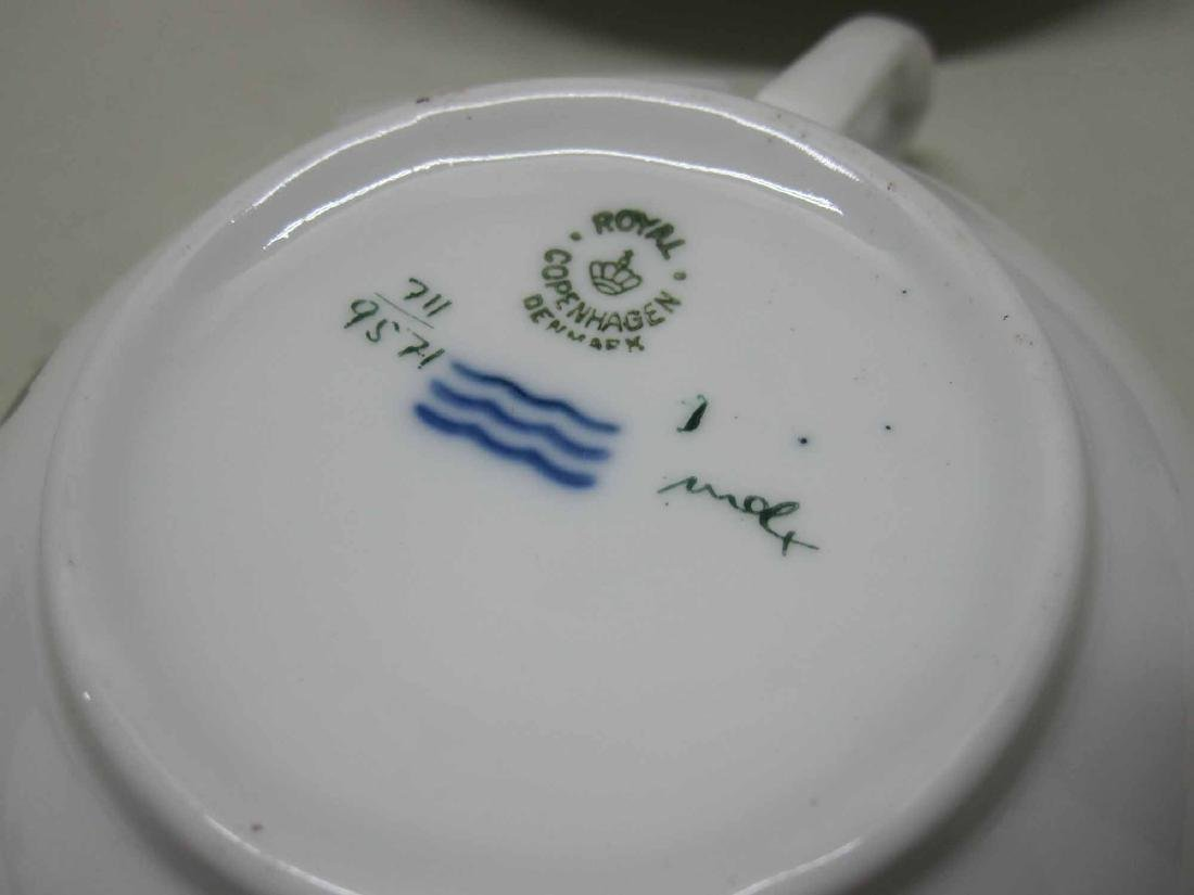 PARTIAL ROYAL COPENHAGEN PORCELAIN DINNER SERVICE - 4