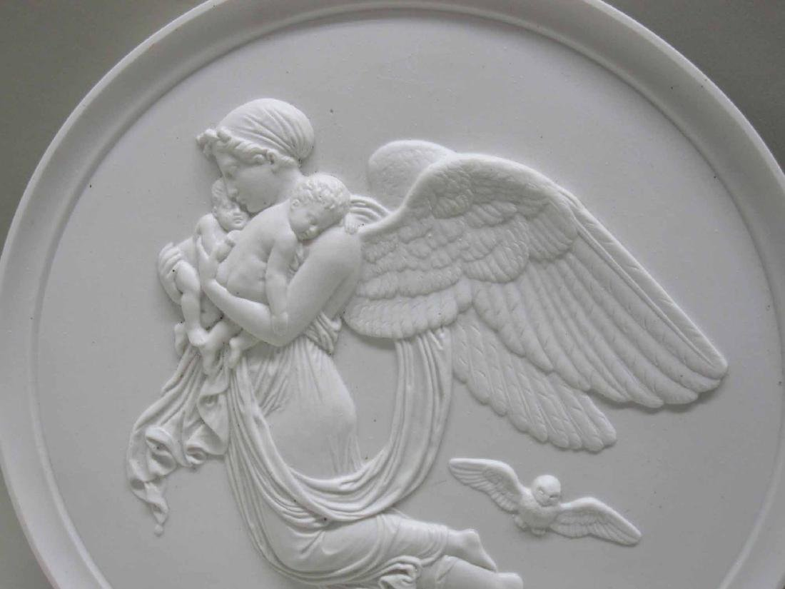 THREE NEOCLASSICAL BISQUE BAS RELIEF WALL PLAQUES - 2