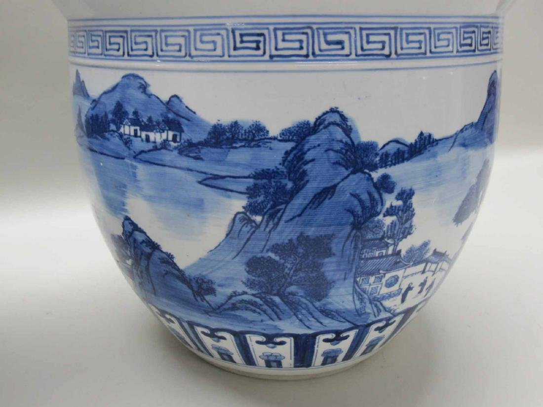 CHINESE BLUE AND WHITE PORCELAIN CACHE POTS - 2