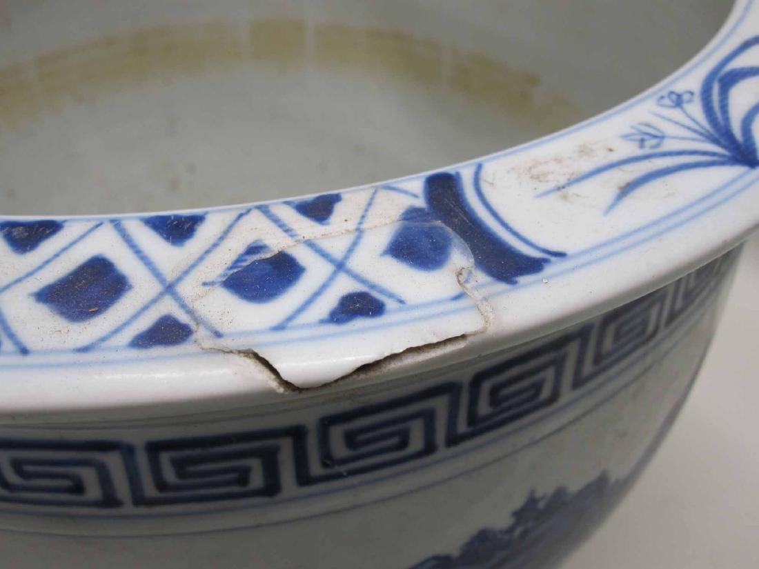 CHINESE BLUE AND WHITE PORCELAIN CACHE POTS - 5