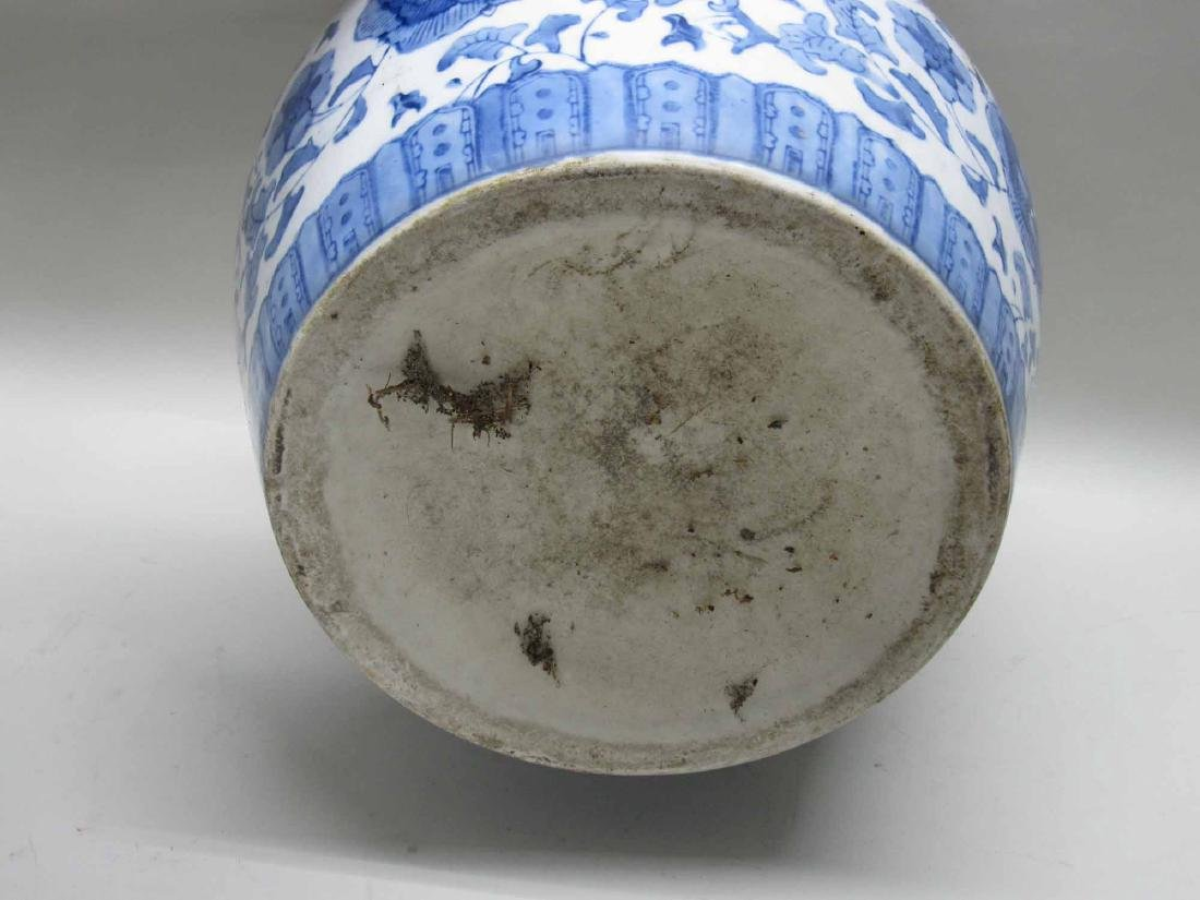 TWO CHINESE BLUE AND WHITE PORCELAIN CACHE POTS - 3