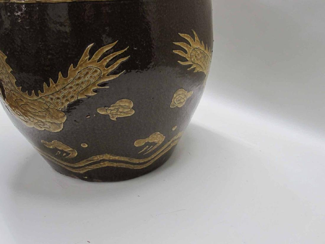 CHINESE CERAMIC CACHE POT - 3