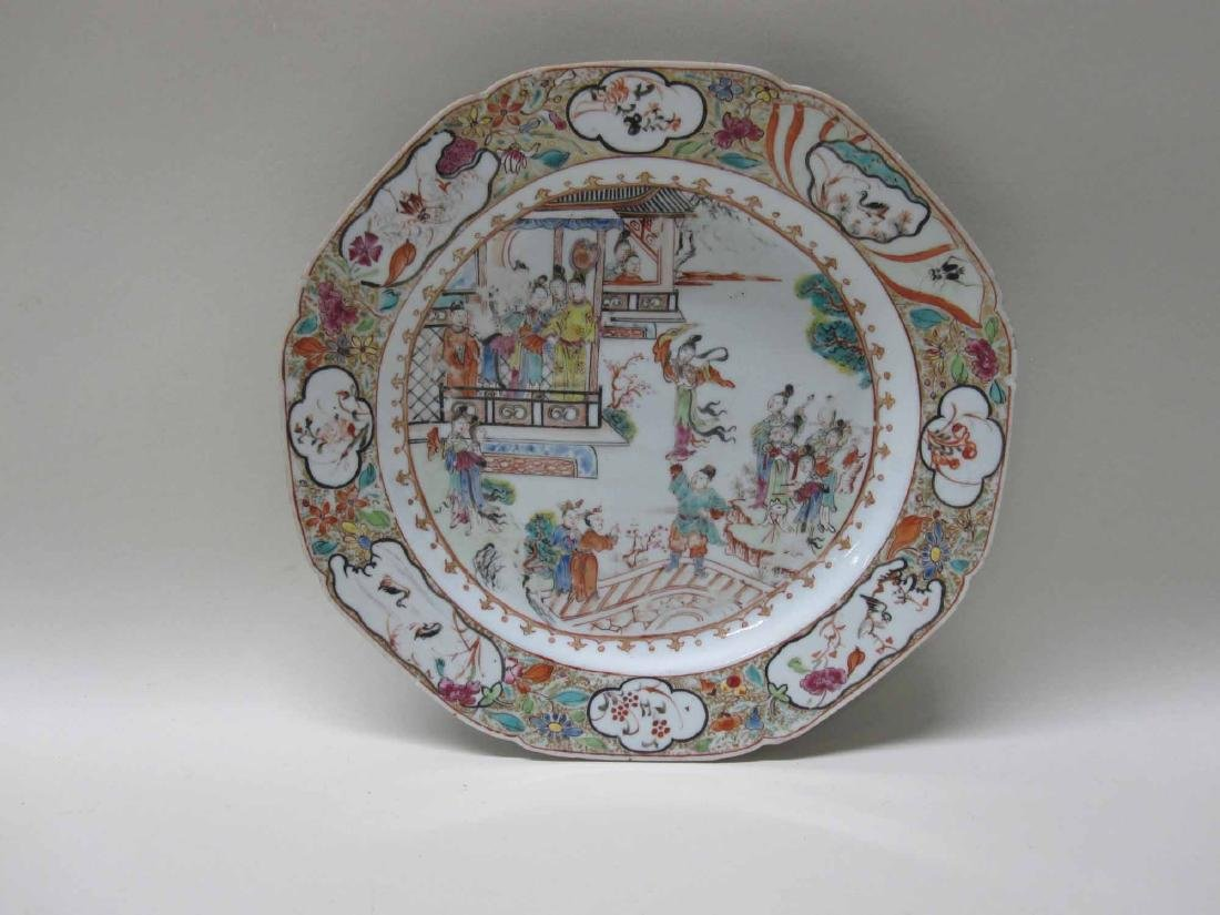 CHINESE EXPORT BOWLS, PLATES, AND PLATTERS