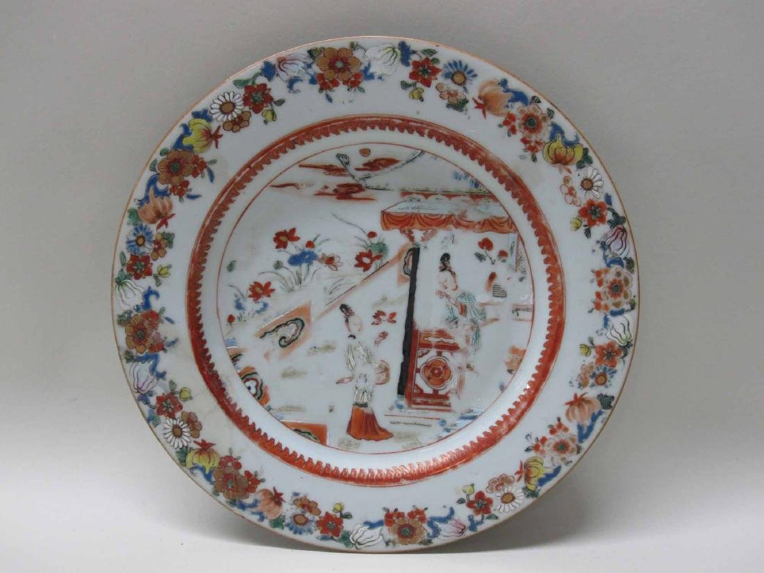 CHINESE EXPORT BOWLS, PLATES, AND PLATTERS - 2