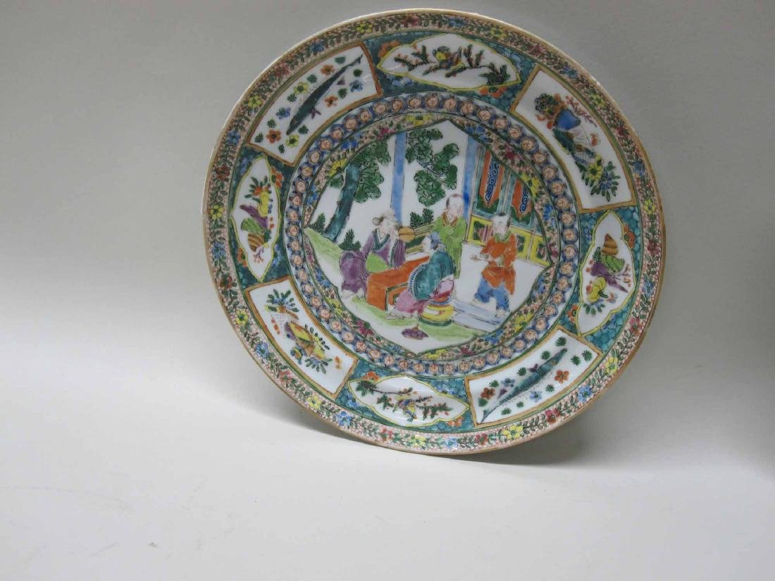 CHINESE EXPORT BOWLS, PLATES, AND PLATTERS - 3