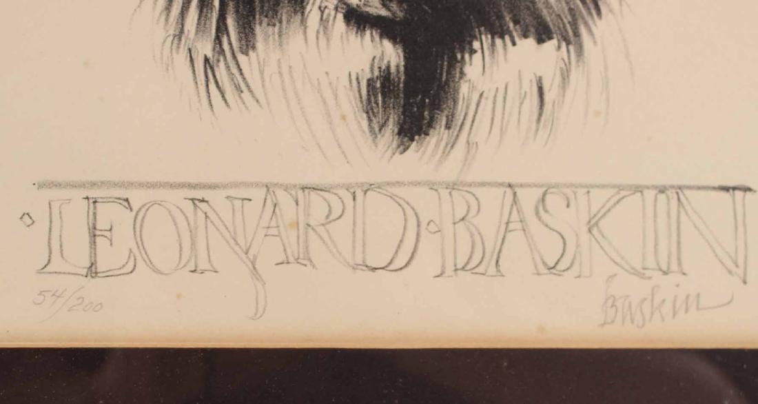 LEONARD BASKIN LITHOGRAPH - 3