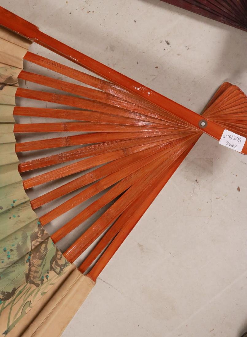 TWO LARGE ORIENTAL STYLE FANS - 4
