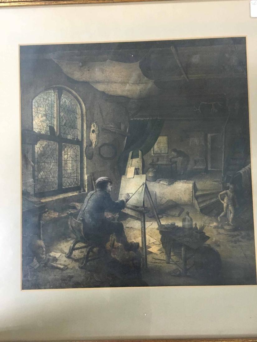 A. VAN OSTADE COLORED LITHOGRAPH