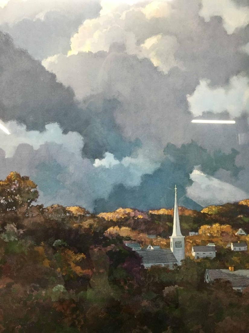 COUNTRY TOWN LANDSCAPE PRINT