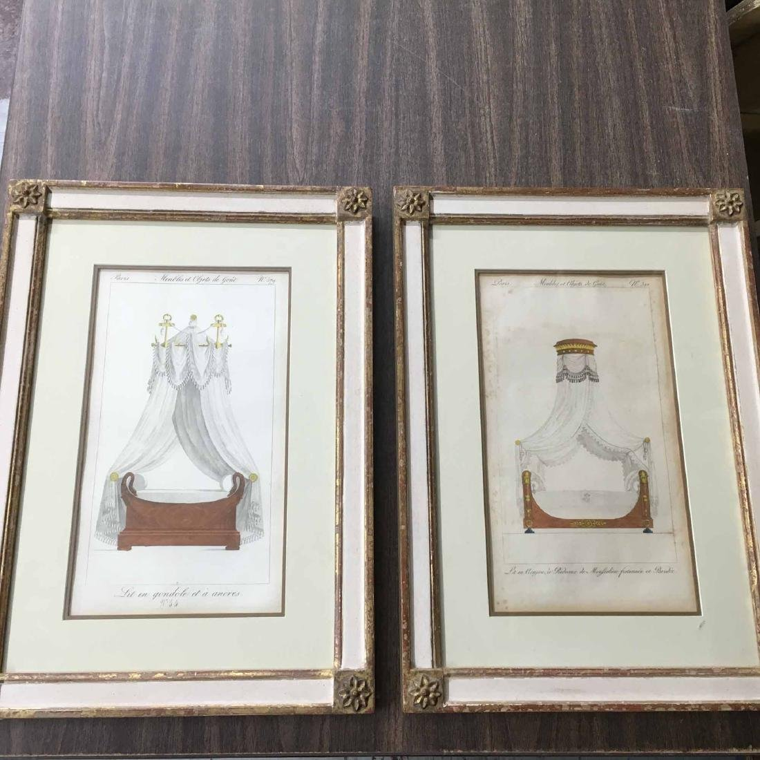 "TWO FRENCH PRINTS, ""FURNITURE ITEMS OF TASTE"" - 3"