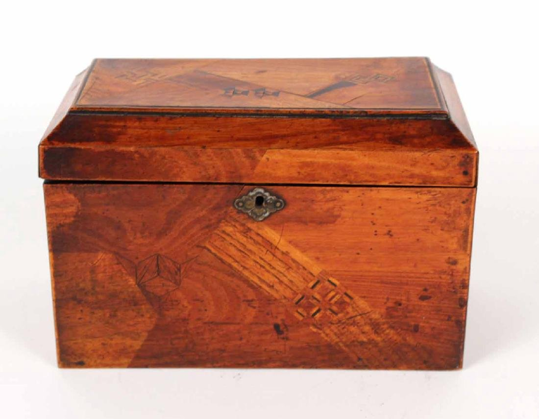 INLAID AND LACQUERED TEA CADDY - 2