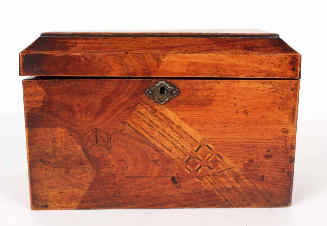 INLAID AND LACQUERED TEA CADDY - 3