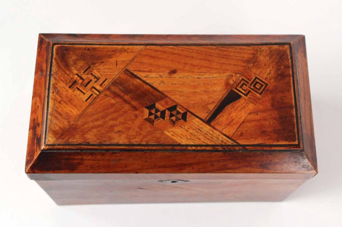 INLAID AND LACQUERED TEA CADDY - 4