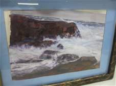 WATERCOLOR ON PAPER, NOCTURNAL CAPE ANN, MA