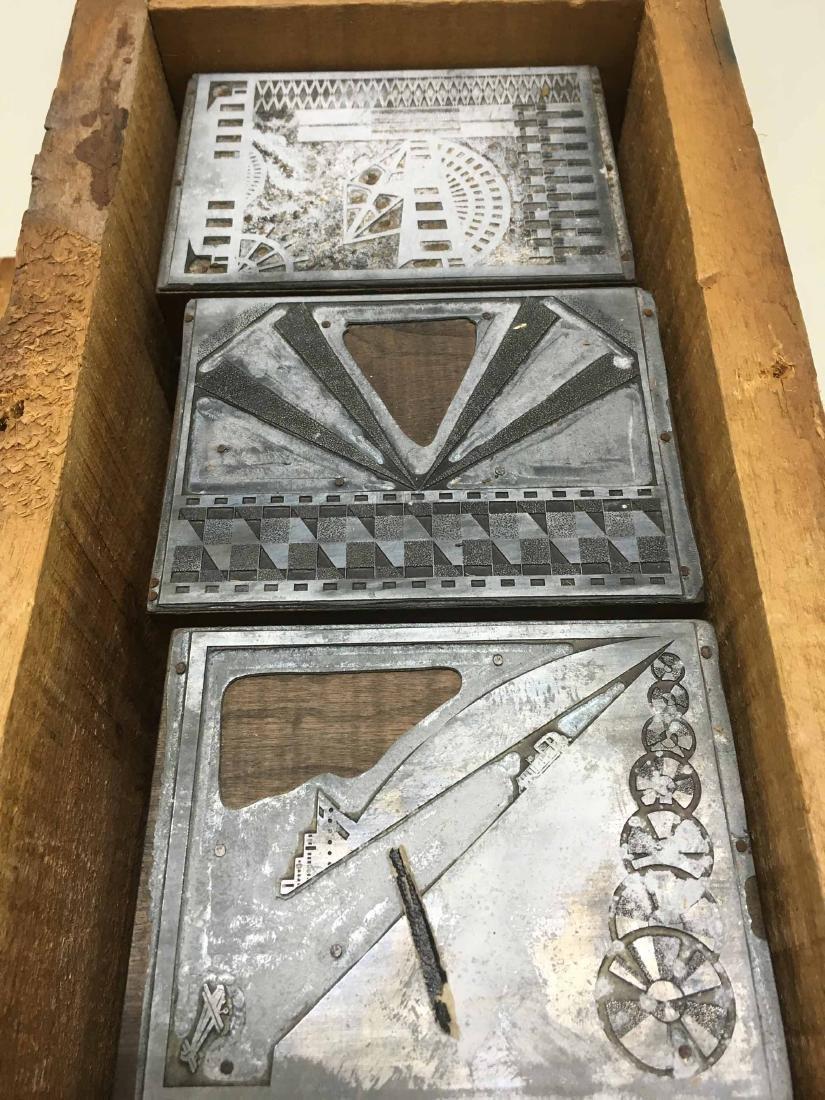 VINTAGE BOX OF PRINTERS BLOCKS - 2
