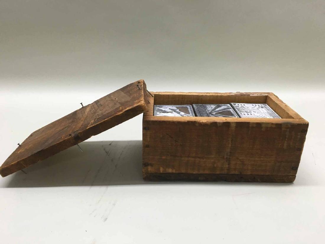 VINTAGE BOX OF PRINTERS BLOCKS - 3