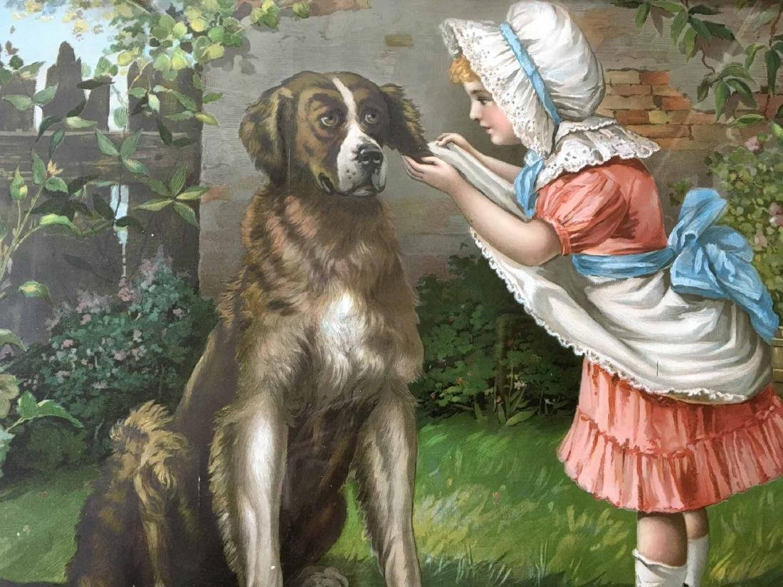 COLOR PRINT, GIRL WITH DOG - 2