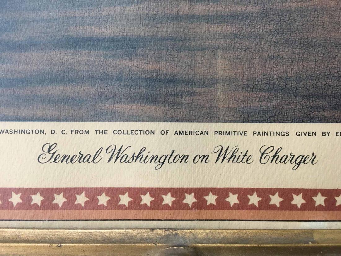 COLOR PRINT, GEORGE WASHINGTON ON CHARGER - 3