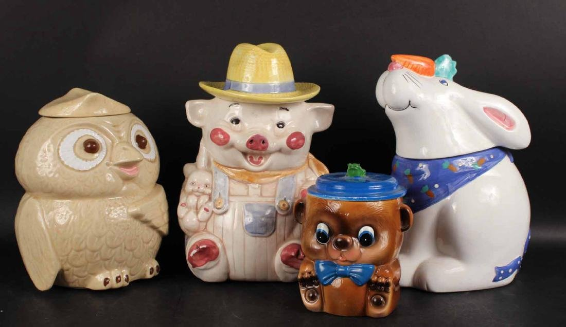 FOUR COOKIE JARS