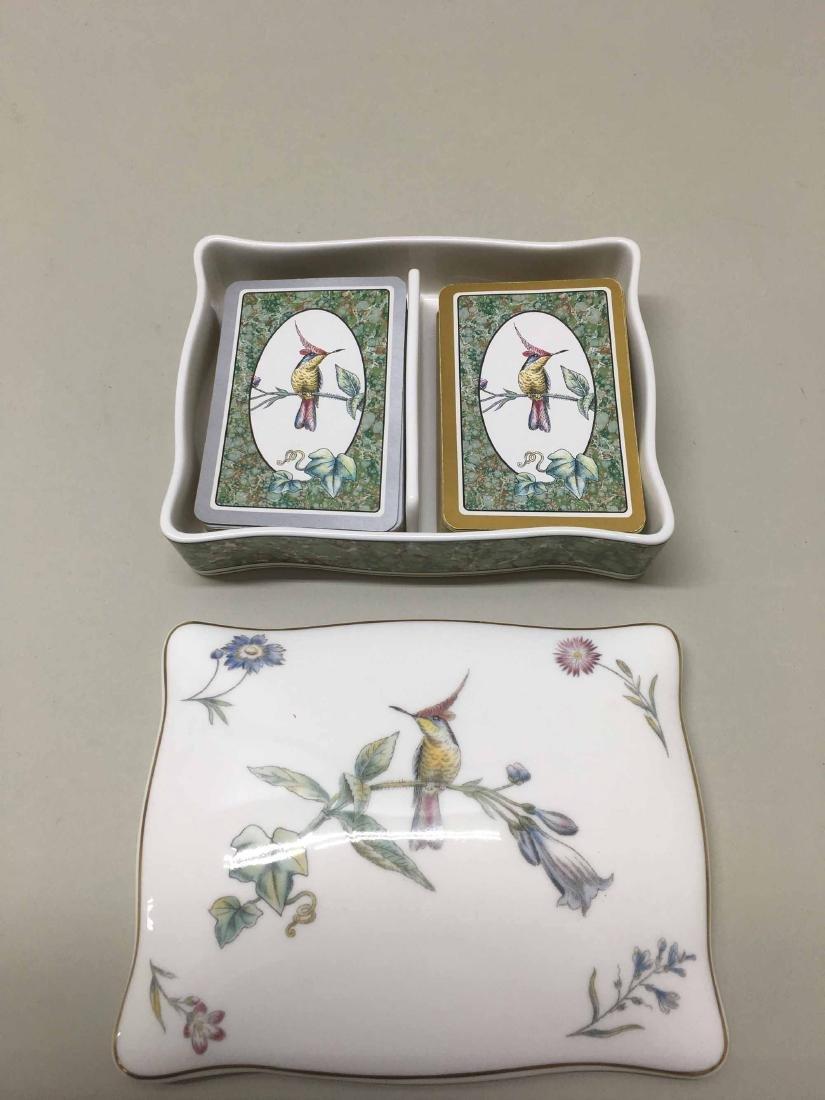 WEDGWOOD COVERED HUMMINGBIRDS CARD BOX - 4