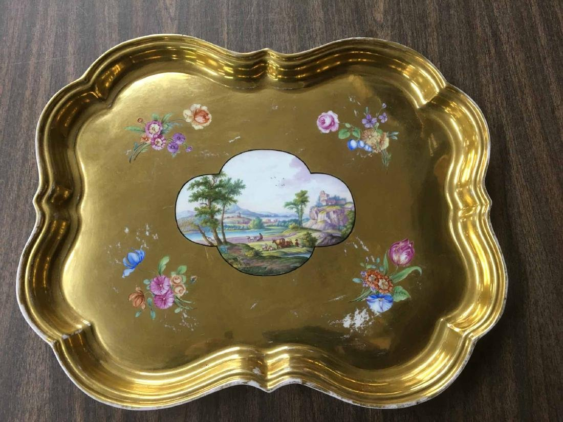 MEISSEN HAND PAINTED TRAY