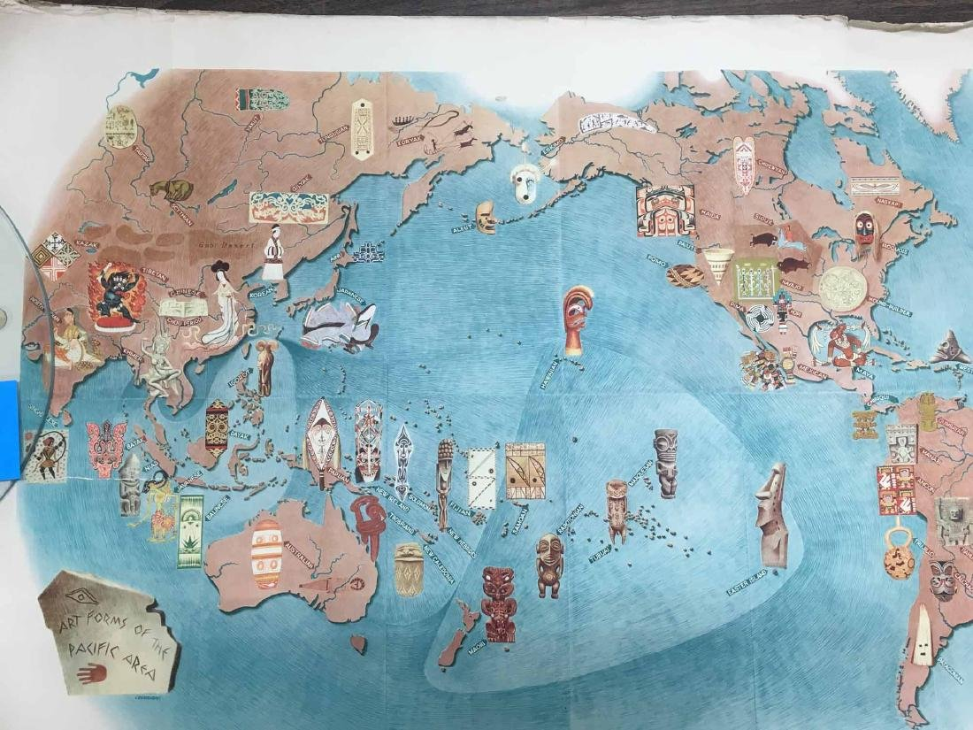 GROUP OF ASSORTED MIGUEL COVARRUBIAS MAPS