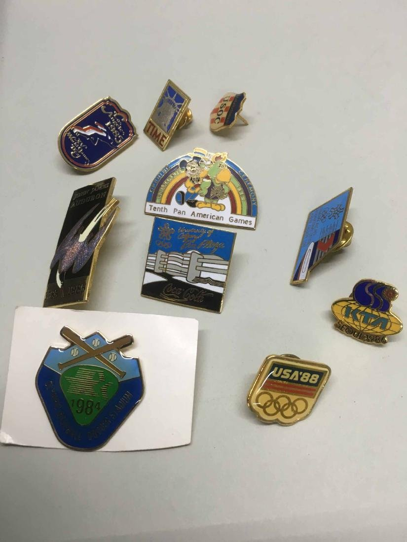 ASSORTED GROUP OF OLYMPIC AND SPORTS TEAM PINS