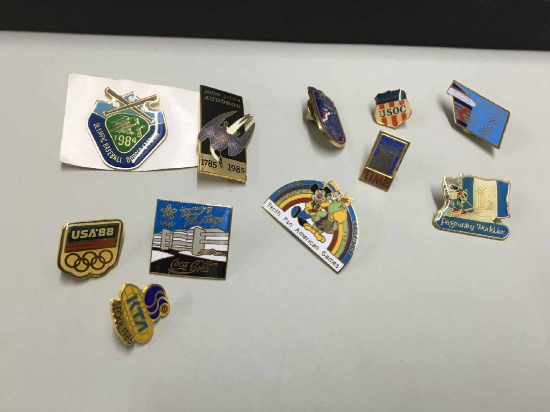 ASSORTED GROUP OF OLYMPIC AND SPORTS TEAM PINS - 3