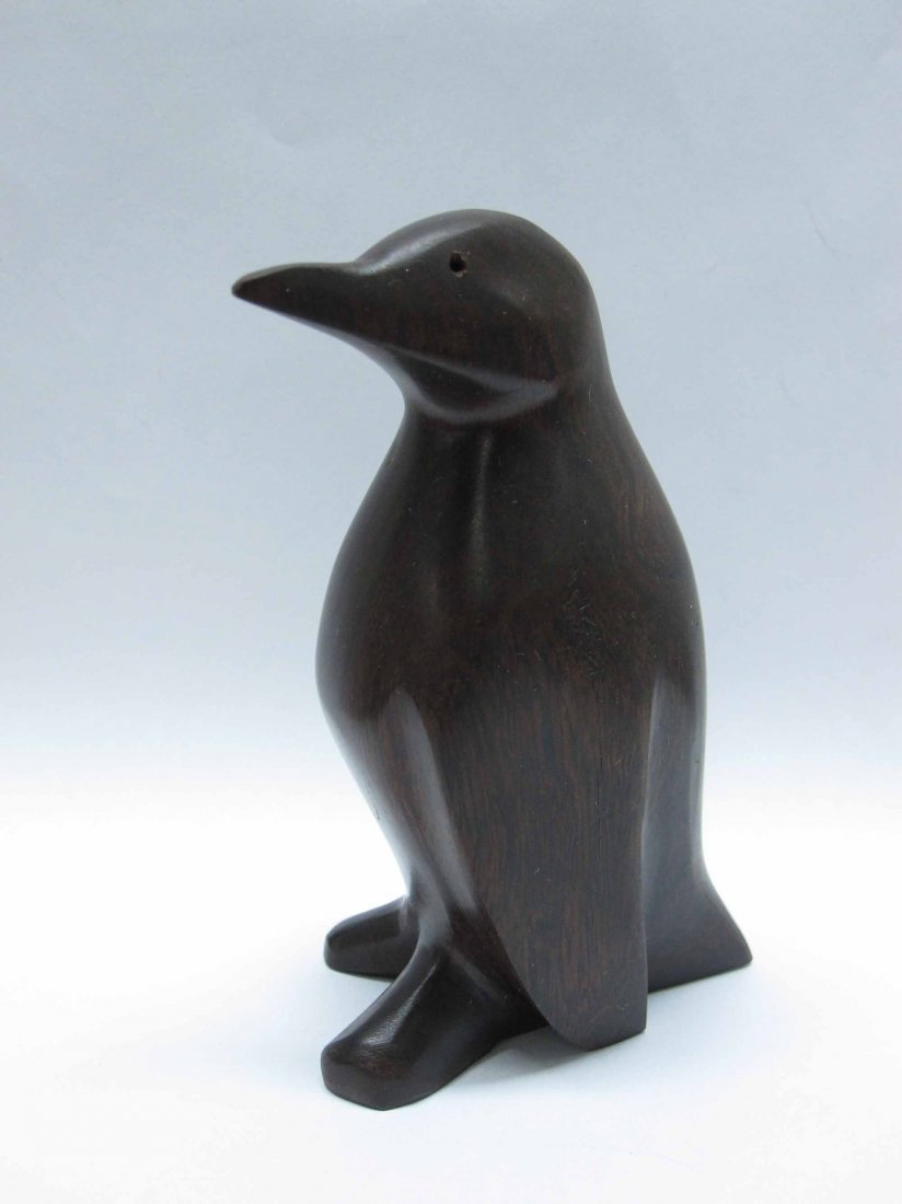 CARVED ROSEWOOD PENGUIN