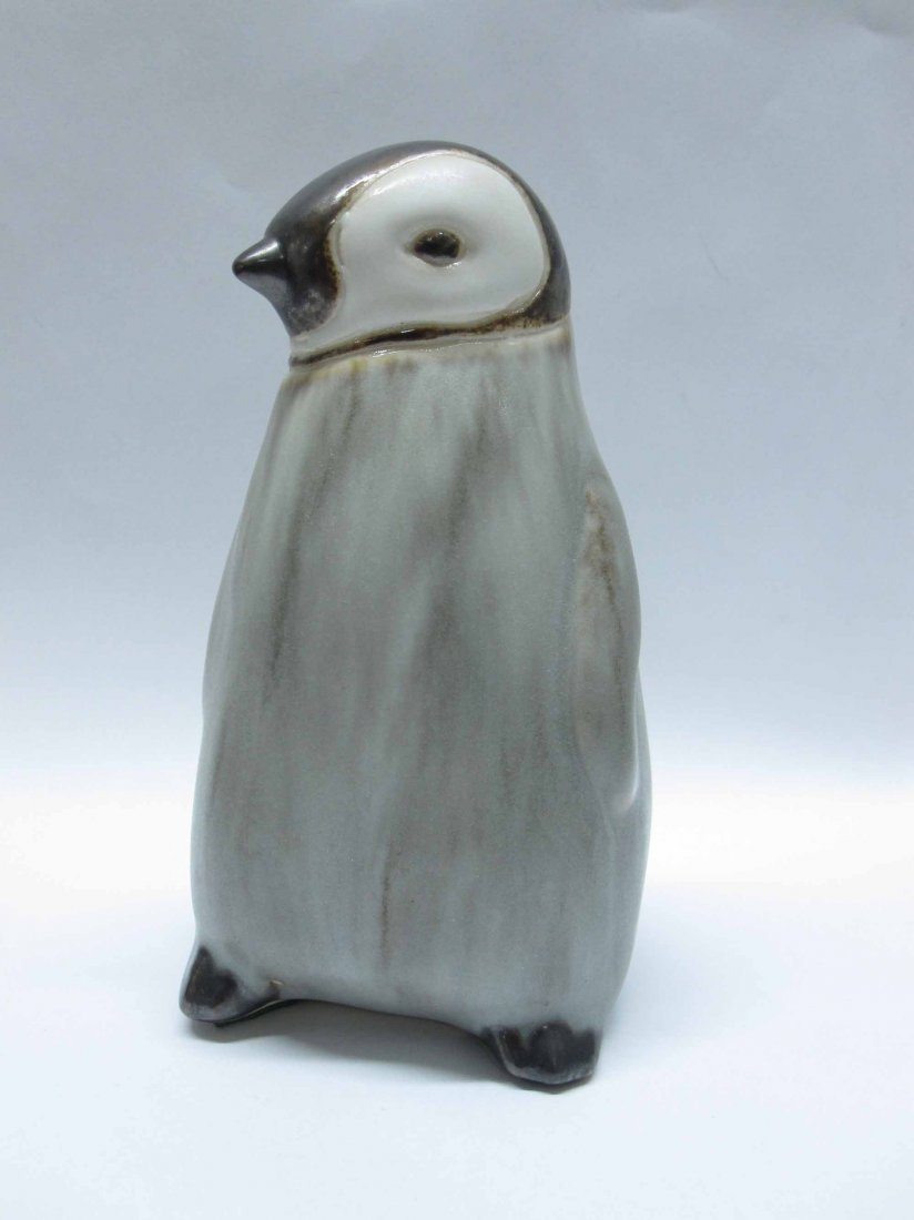 CARVED ROSEWOOD PENGUIN - 3