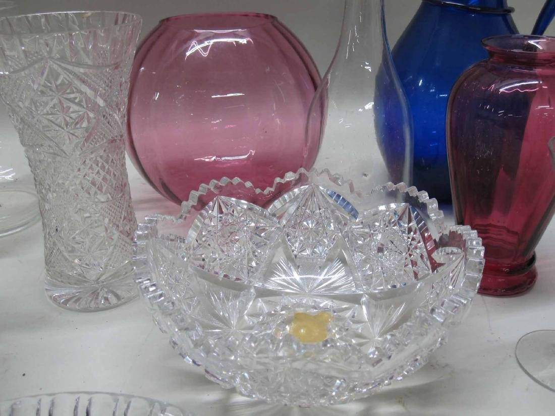 GROUP OF ASSORTED GLASS TABLE ARTICLES - 3